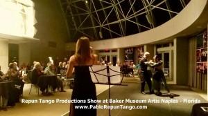 Repun Tango Productions Show at Baker Museum Artis Naples - Florida www.PabloRepunTango.com